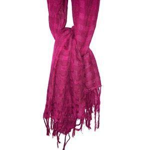 b.r fuscia scarf